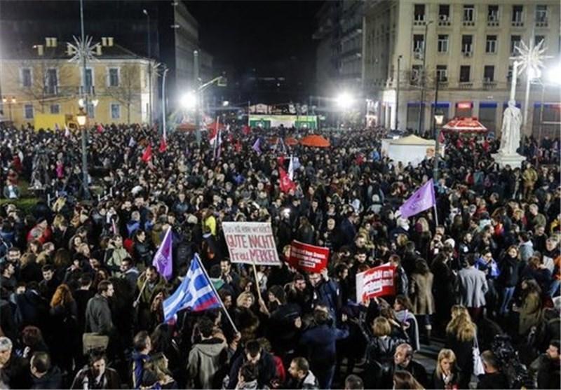 تصاویر پیروزی حزب سیریزا در انتخابات یونانl◉l