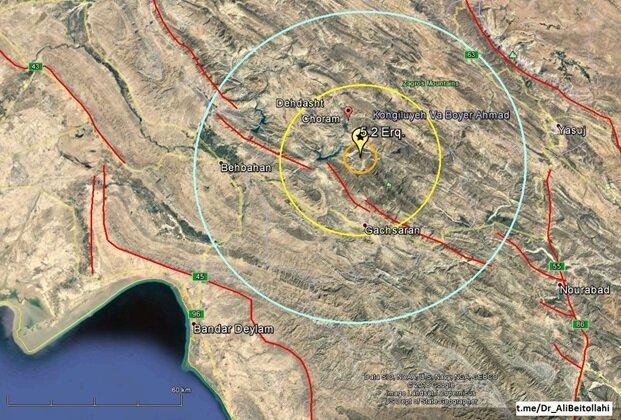 بیشتر زلزله های آذربایجان شرقی تقصیر این گسل است