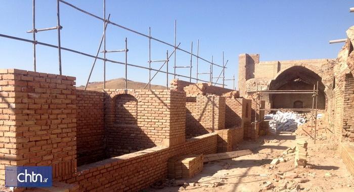 پیشرفت 70 درصدی مرمت کاروانسرای تاریخی هجیب در قزوین