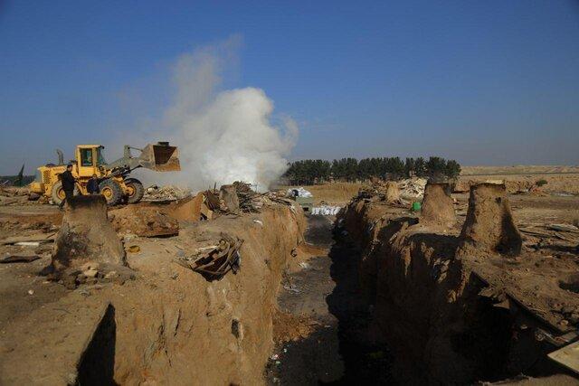 تخریب و جمع آوری 100 کوره غیرمجاز زغال گیری در ری