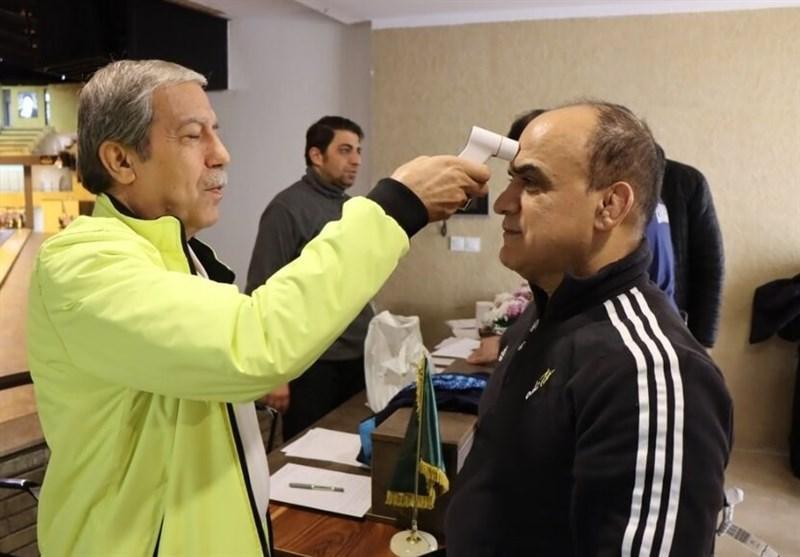 استقرار کادر پزشکی در مجموعه 5 سالن ورزشگاه آزادی برای مقابله با ویروس کرونا