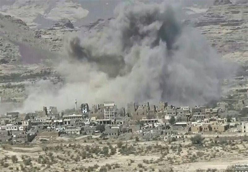 حمله موشکی و توپخانه ای ائتلاف سعودی به روستاهای استان صعده