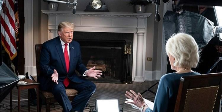 (ویدئو) عصبانیت ترامپ از سوالات مجری سی بی اس و ترک مصاحبه