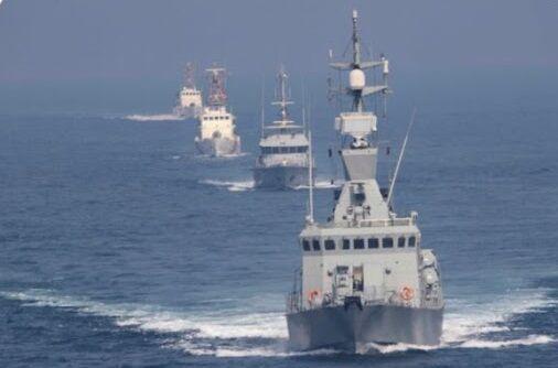 خبرنگاران کویت و آمریکا رزمایش مشترک دریایی در خلیج فارس برگزار کردند