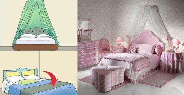 تزیین تخت خواب با روش های با حال و متفاوت
