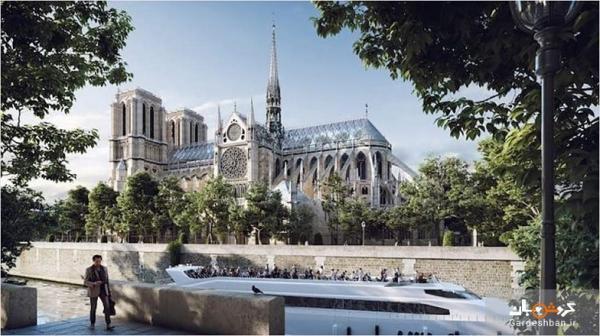 بازسازی خلاقانه سقف کلیسای جامع نوتردام
