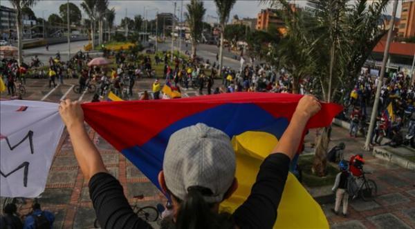 دهمین روز متوالی اعتراضات مردم کلمبیا به لایحه اصلاح مالیاتی، فقر و نابرابری